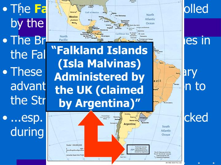 """Falkland Islands (Isla Malvinas) Administered by the UK (claimed by Argentina)"""