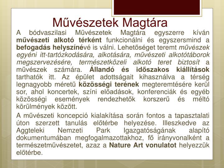 Művészetek Magtára