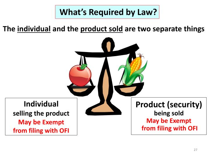 What's Required by Law?