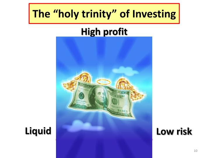 "The ""holy trinity"" of Investing"
