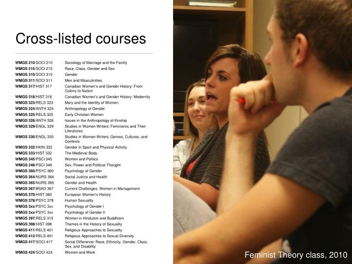 Cross-listed courses