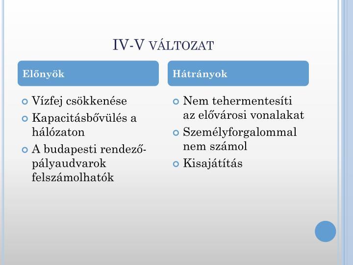 IV-V változat