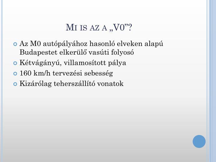 """Mi is az a """"V0""""?"""