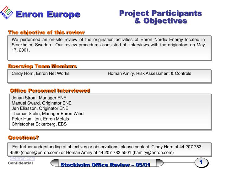 Enron Europe