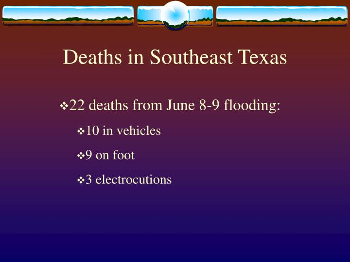 Deaths in Southeast Texas