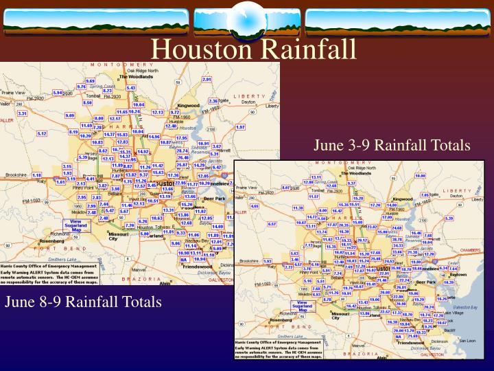 Houston Rainfall