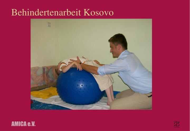 Behindertenarbeit Kosovo