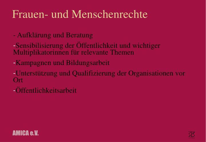 Frauen- und Menschenrechte
