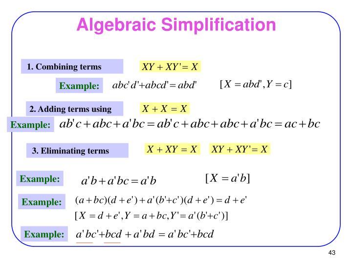 Algebraic Simplification