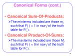 canonical forms cont