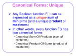 canonical forms unique