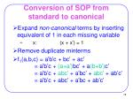 conversion of sop from standard to canonical