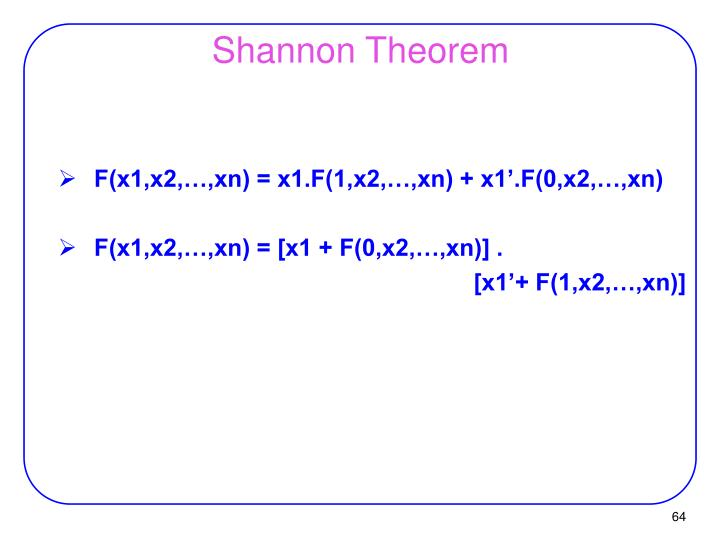 Shannon Theorem