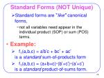 standard forms not unique