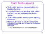 truth tables cont1