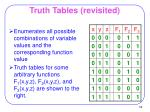 truth tables revisited