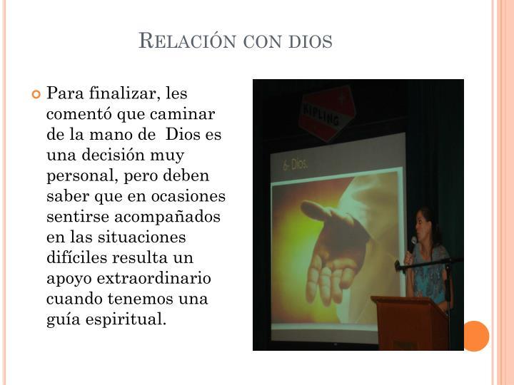 Relación con dios