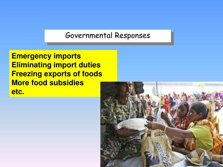 Governmental Responses