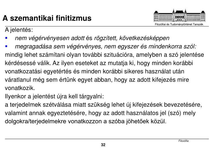 A szemantikai finitizmus