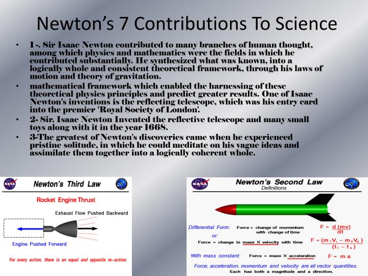 Newton's 7 Contributions To Science