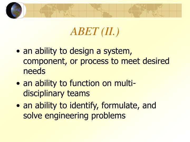 ABET (II.)