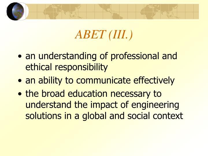 ABET (III.)