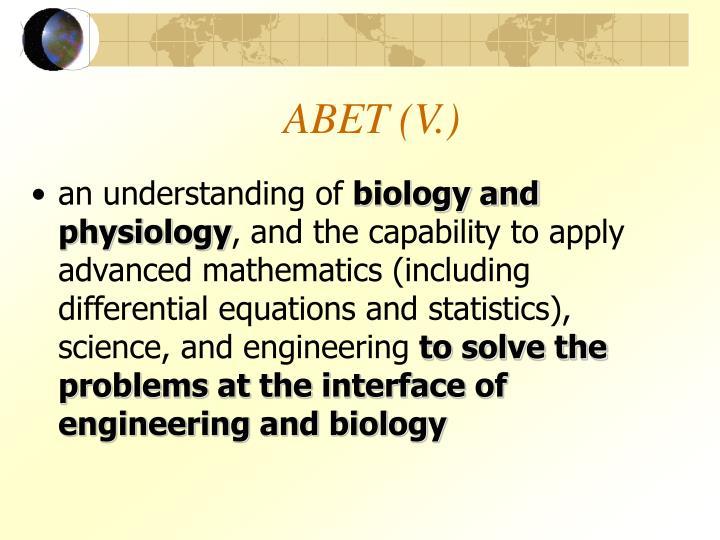 ABET (V.)