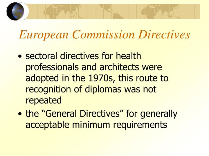 European Commission Directives
