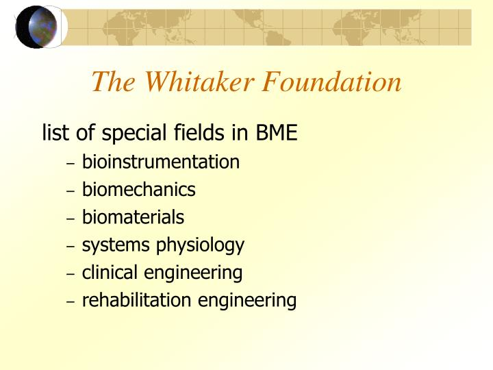 The Whitaker Foundation