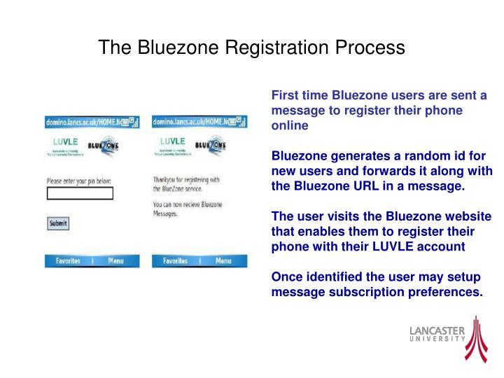 The Bluezone Registration Process