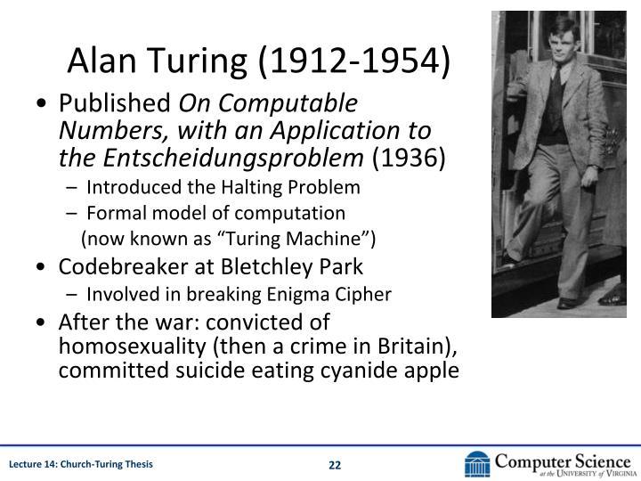 Alan Turing (1912-1954)