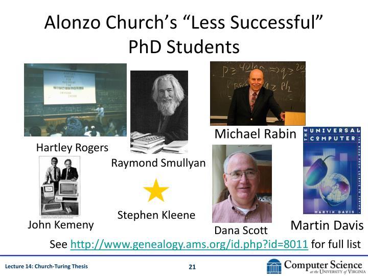 "Alonzo Church's ""Less Successful"""
