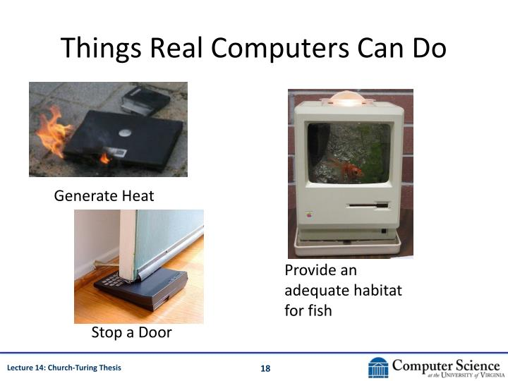Things Real Computers Can Do