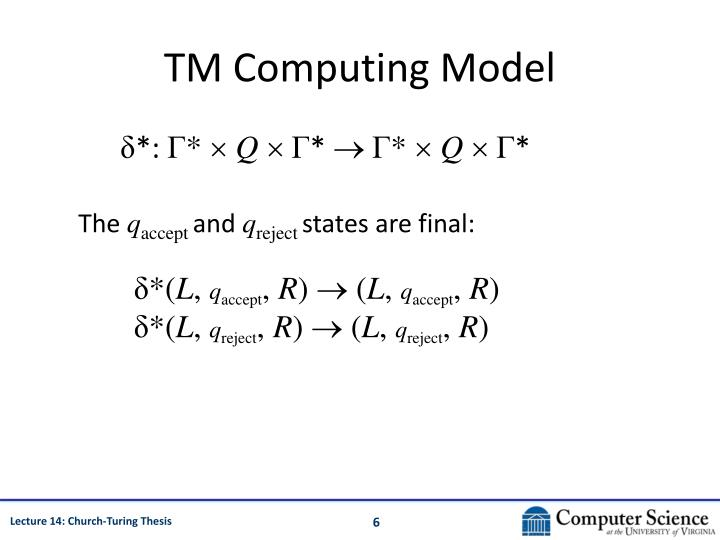 TM Computing Model