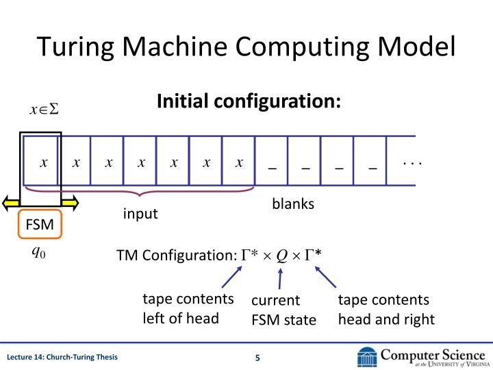 Turing Machine Computing Model