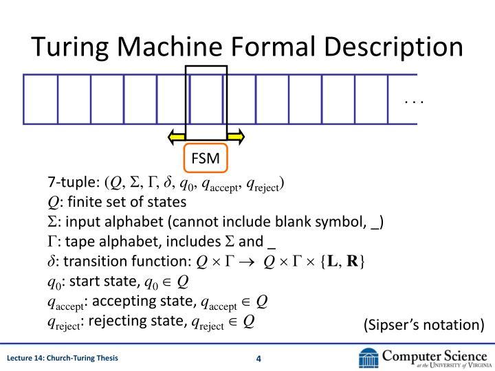 Turing Machine Formal Description