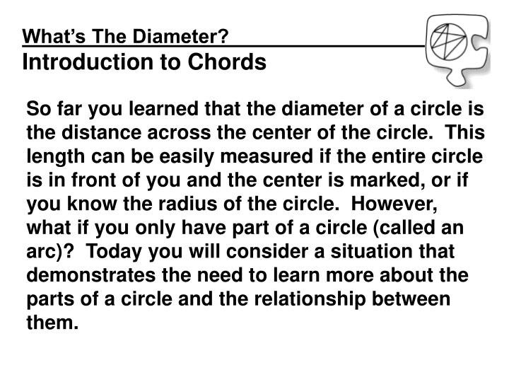 What's The Diameter?