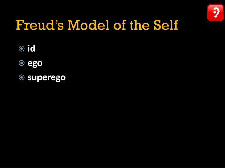 Freud's Model of the Self