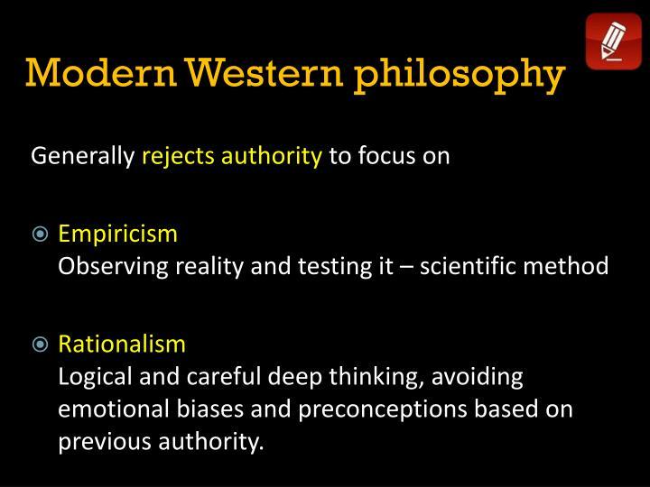 Modern Western philosophy