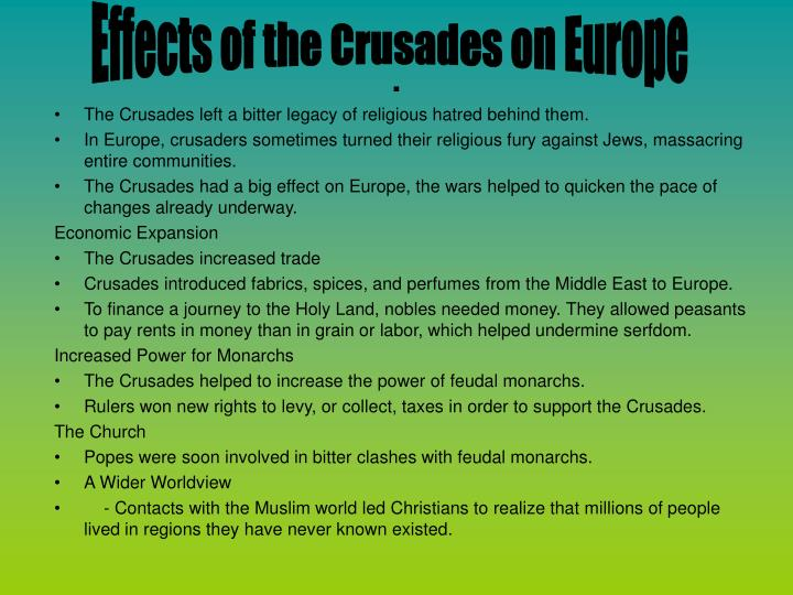 Effects of the Crusades on Europe