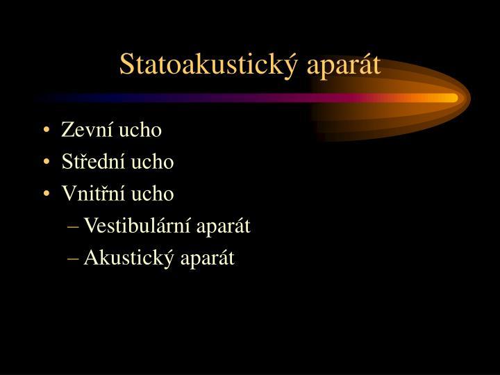 Statoakustický aparát