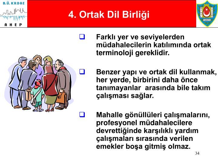 4. Ortak Dil Birliği