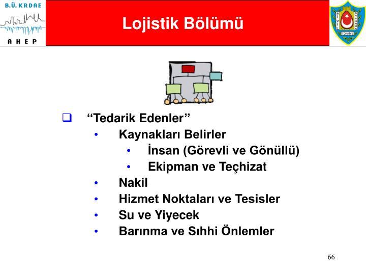 Lojistik Bölümü