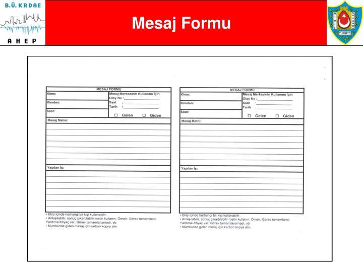 Mesaj Formu