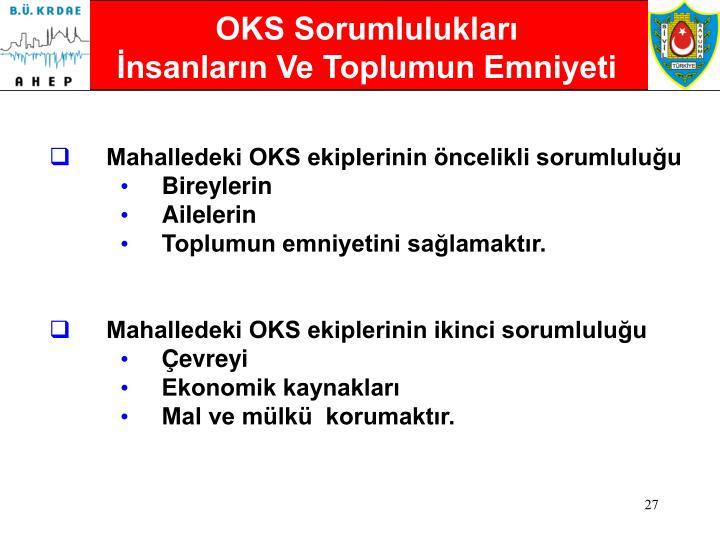 OKS Sorumlulukları
