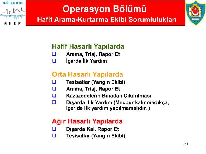 Operasyon Bölümü