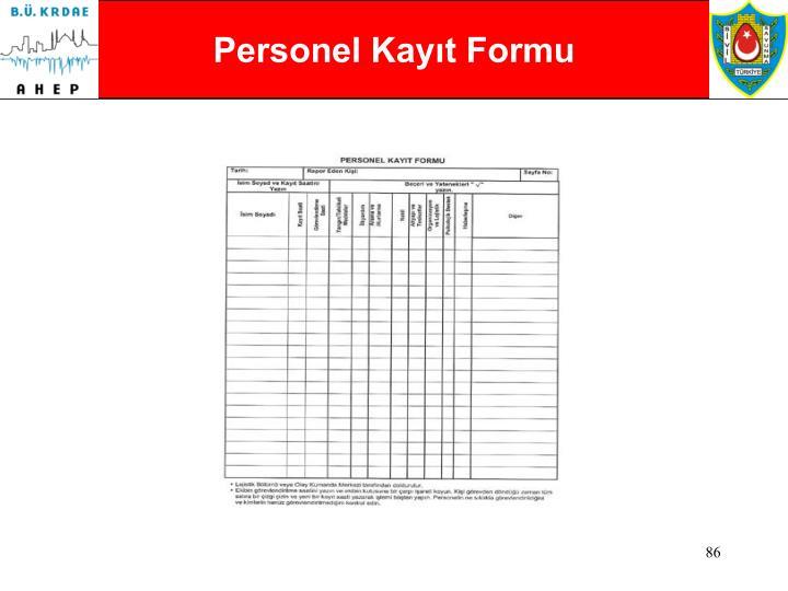 Personel Kayıt Formu