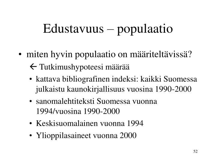 Edustavuus – populaatio