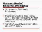 measures used of emotional intelligence