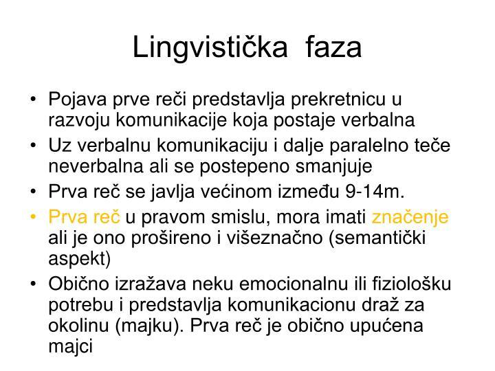 Lingvistička  faza